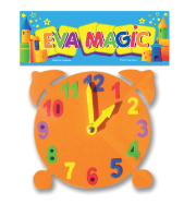 Reloj didactico goma eva 18x18cm Eva Magic art 80