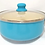 Thumbnail: Cacerola ceramica antiadherente pastel tapa vidrio Hudson 24cm art AC23A