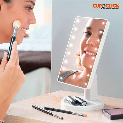 Espejo de maquillaje led gira 360 grados Mundo Mujer