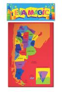 Rompecabeza mapa Argentina goma eva 22x33cmEva Magic art 40