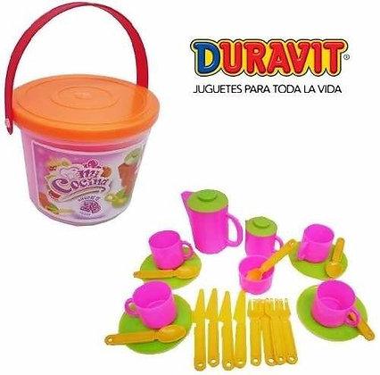 Juego de te 25 piezas en balde Duravit