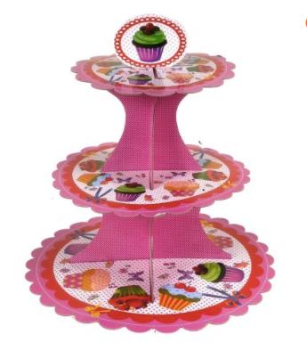 Posa cupcakes 3 pisos carton 33x30cm D'saza