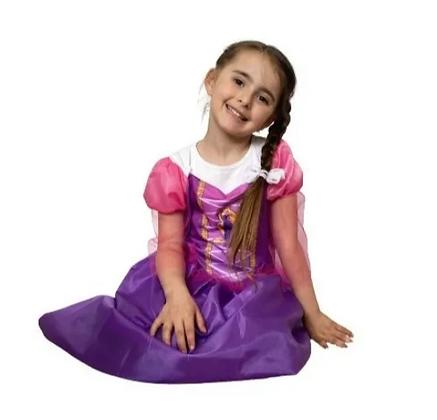 Disfraz de tela de Rapunzel