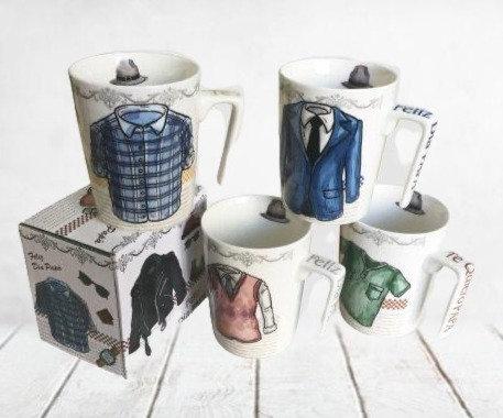 Jarro mug de porcelana grande importado Dia del Padre en caja