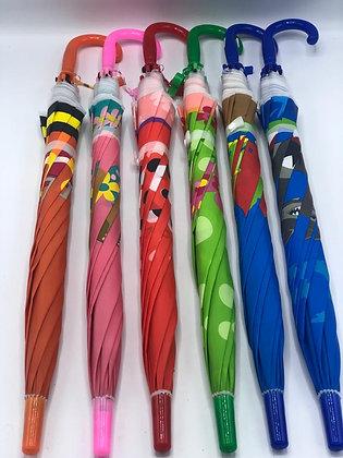 Paraguas infantiles 65cm con silbato