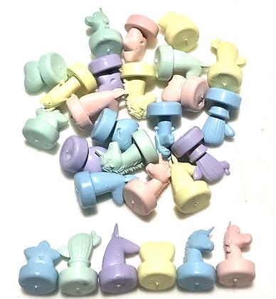 Tapa de botella figuras pastel pico ancho cliker
