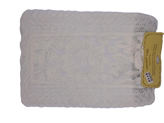 Carpeta x 2 unidades crochette 30x45cm(blanca o beige)