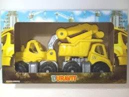Set 2 camiones en caja construcción vial Duravit art360