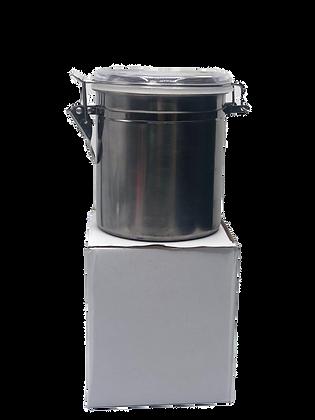 Frasco acero tapa cristal 1kg