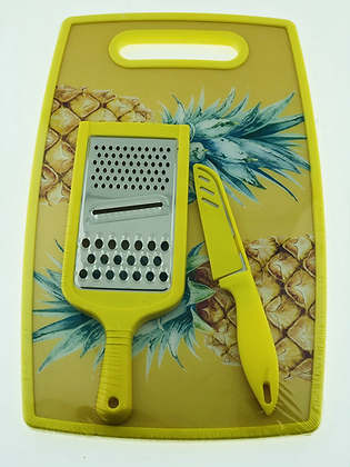Tabla de picar +rallador y cuchillo 37cm soifer