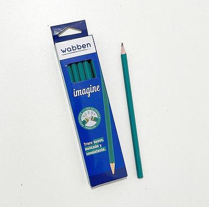 Lapices de grafito  largos x 12 Wabben art 9055