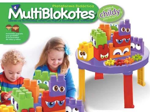 MultiBloquetes   Juego de bloques enormes x 12 c/mesita JNG art 12533