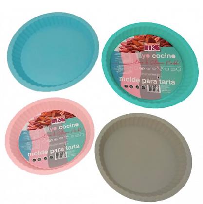Molde para tarta 30cm silicona colores pastel TK