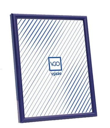 Portaretrato c/vidrio marco plastico 15x21cm vertigo