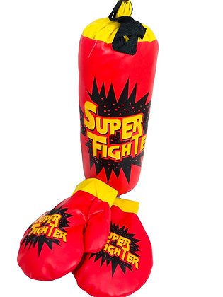 Bolsa de boxeo c/guantes importada 32cm POKA art SD19940