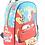 "Thumbnail: Mochila Cars espalda 12"" original Wabro art 81312"