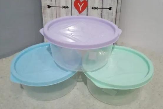 Hermetico redondo 1500cc tapa pastel Tay plast