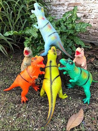 Dinosaurio de goma  mediano 42cm Cabadin art 005
