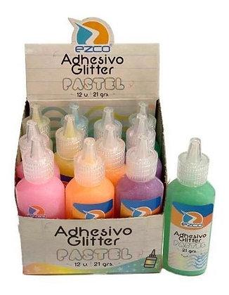 Adhesivo glitter pastel 21g Ezco