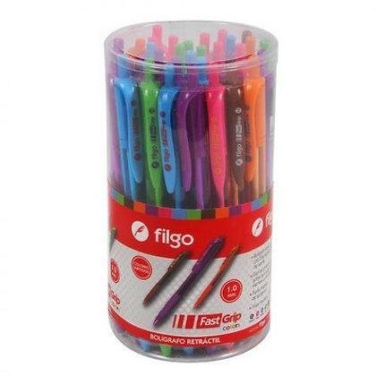 Biromes de colores retractil Fast Grip Filgo 1.0mm