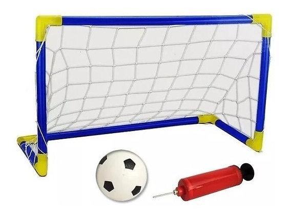 Arco de futbol plastico con red x 1 70x41cm sin pelota