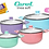 Thumbnail: Cacerola 26cm tapa vidrio Carol c/ceramica antiadh linea Soft
