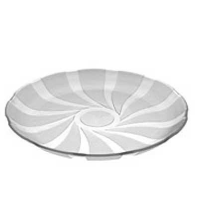 Set de 6 platos playos de vidrio Galaxia Rigolleau