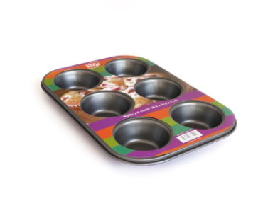 Molde Muffin x 6 teflon antiadherente 26,5x18,5x3cm Cool Bazar