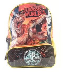 "Mochila Jurassic World espalda 16"" original Wabro art 84038"