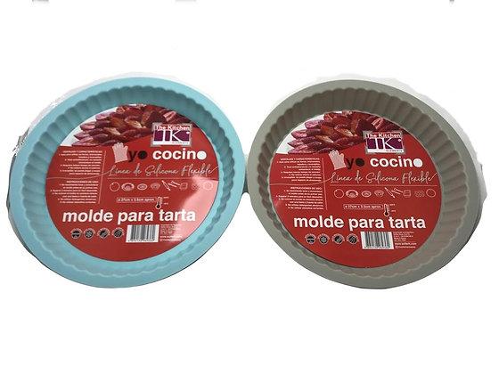 Molde para tarta 27x3,5cm silicona lujo Soifer