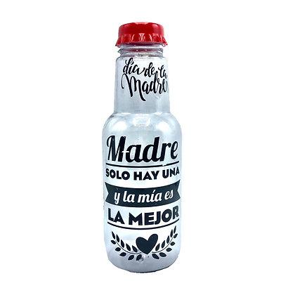 Botella plástica 1000cc con tapa DÍA DE LA MADRE