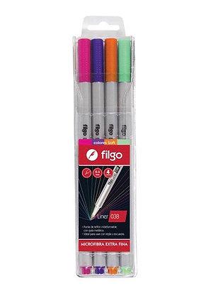 Pack microfibras x 4 colores soft Filgo 038mm