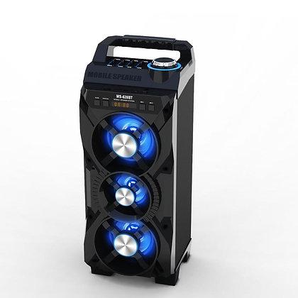 Parlante con bluetooth con batería de litio interna 24w  c/c 47x20x20cm MS-628BT