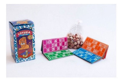 Lotería familiar bolillas de madera 48 cartones El rey