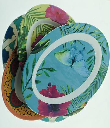 Bandeja oval melamina 30cm  soifer