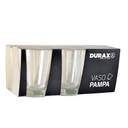 Pack en caja de regalo 6 vasos trago largo Pampa Durax 400cc