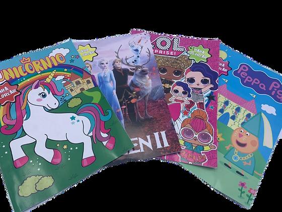 4 libros para colorear (nena)