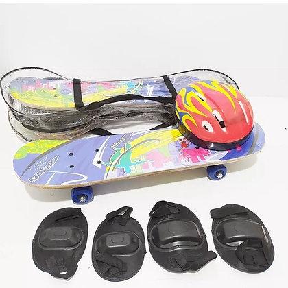 Skate con protecciones y casco 80 cm Sebigus art 10104