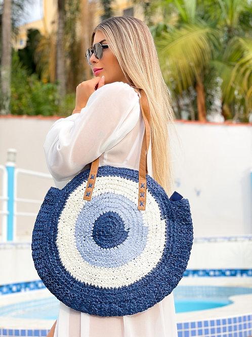Bolsa Olho grego azul