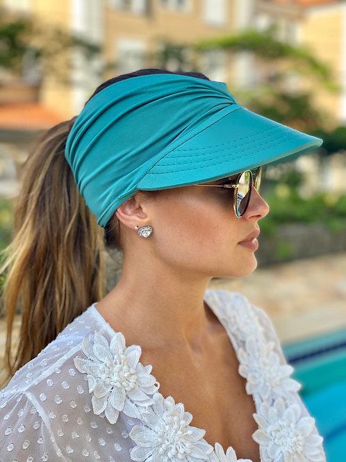 Viseira/turbante Azul água