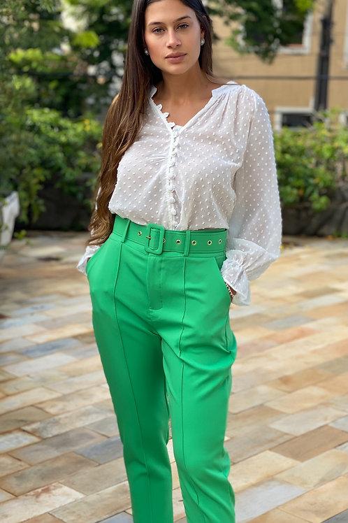Calça Alfaiataria Verde