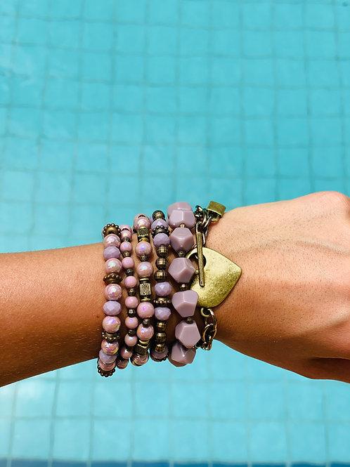 Mix de pulseiras Fran Lavanda
