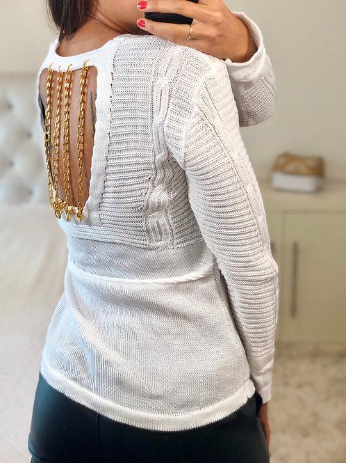 Tricot Mariah Branco- Correntes