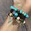 Thumbnail: Mix de pulseiras Luxo Turquesa