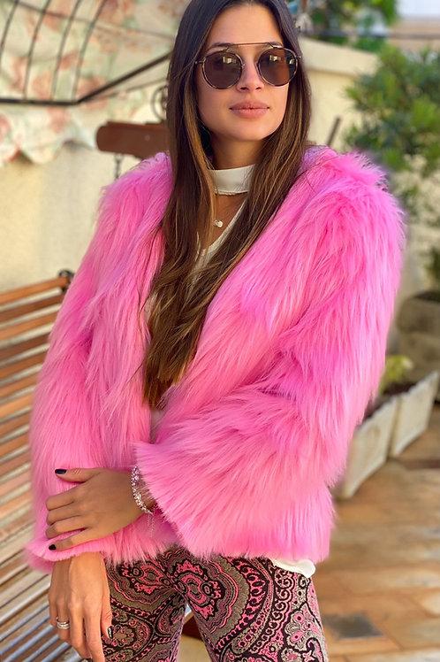 Casaco Pelo sintético- Pink