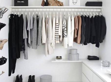 Dicas para criar um closet minimalista