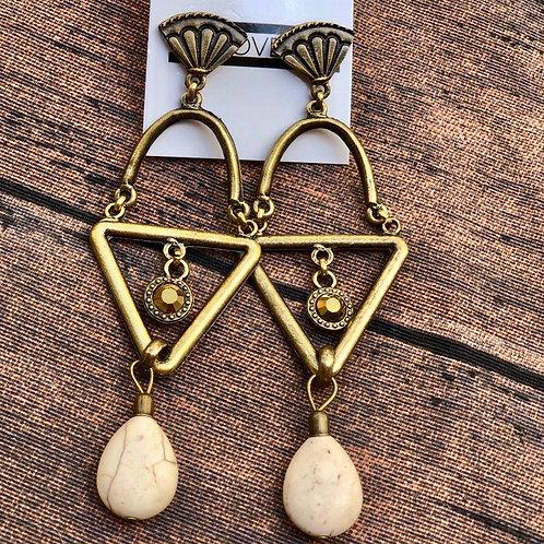Brinco Geométrico Gold