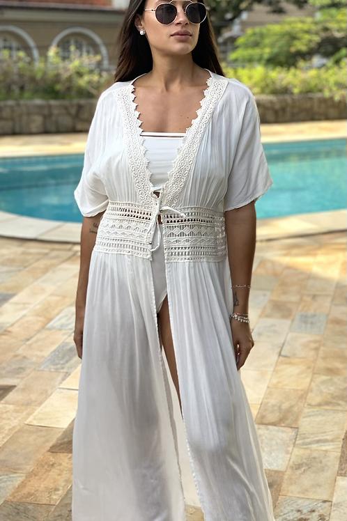 Saída de Praia/Kimono Malu branco