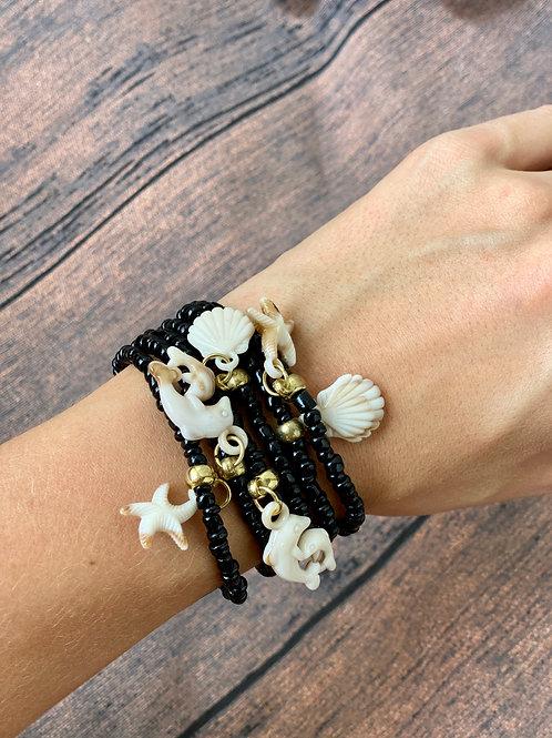 Mix de pulseiras Bali Preto