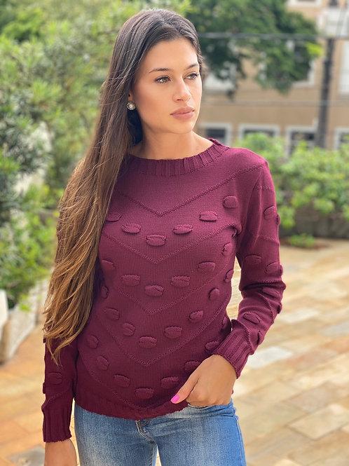 Tricot Sarah bordô
